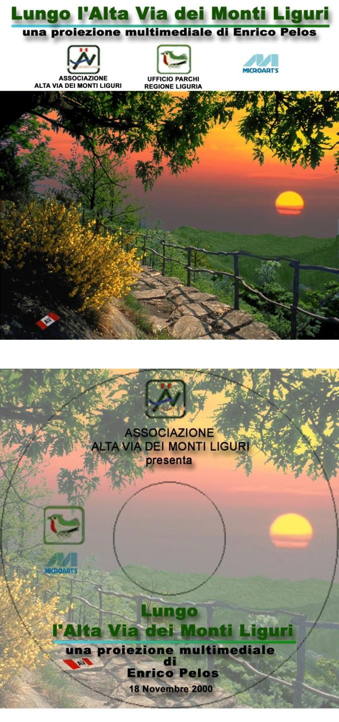 """Il CD multimediale """"Lungo l'Alta Via dei Monti Liguri"""" con foto, sw/web design e produzione by enrico pelos"""