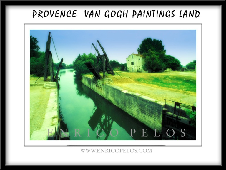 VAN GOGH Places in PROVENCE The mill of one of his famous paintings with the canal