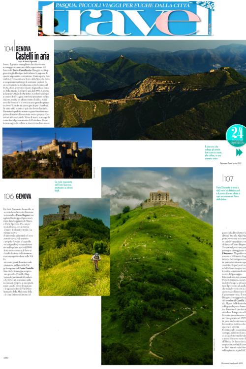 Foto Forti di Genova di Enrico Pelos pubblicate su Panorama Travel di aprile 2013