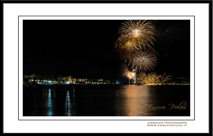 FIREWORKS in San LORENZO al Mare - FUOCHI ARTIFICIALI a San LORENZO al MARE