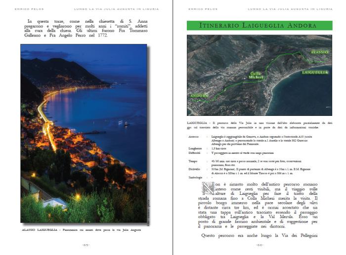 lungo la via julia augusta roman road page 3 - testo foto carte publishing by enrico pelos