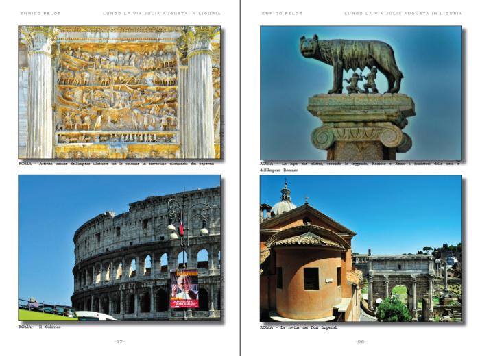 lungo la via julia augusta roman road page 4 - testo foto carte publishing by enrico pelos