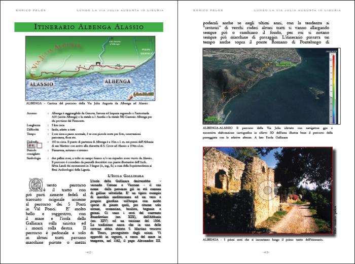 lungo la via julia augusta roman road page - testo foto carte publishing by enrico pelos