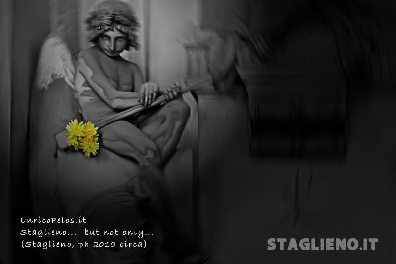 staglieno cemetery - angel with yellow flowers - ph enrico pelos