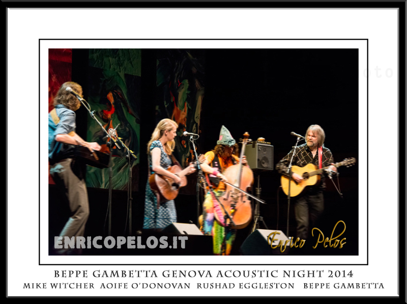 BEPPE GAMBETTA GENOVA ACOUSTIC NIGHT 2014