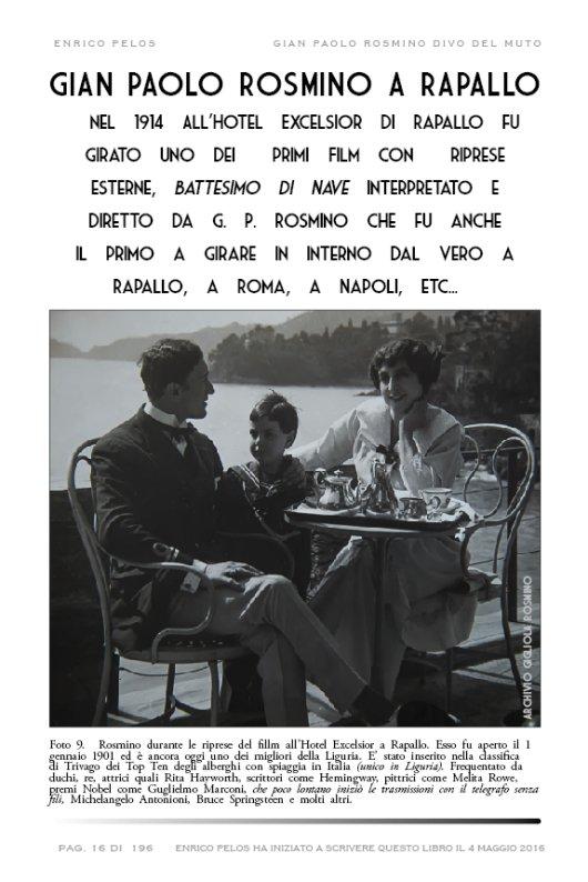 GIAN PAOLO ROSMINO DIVO DEL MUTO DI ENRICO PELOS FOTO ARCHIVIO GIGLIOLA ROSMINO